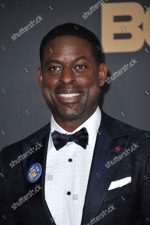Sterling K. Brown arrives at the 51st NAACP Image Awards at the Pasadena Civic Auditorium, in Pasadena, Calif