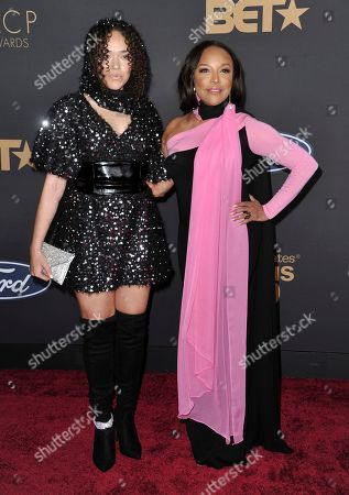 Grace Gibson, Lynn Whitfield. Grace Gibson, left, and Lynn Whitfield arrive at the 51st NAACP Image Awards at the Pasadena Civic Auditorium, in Pasadena, Calif