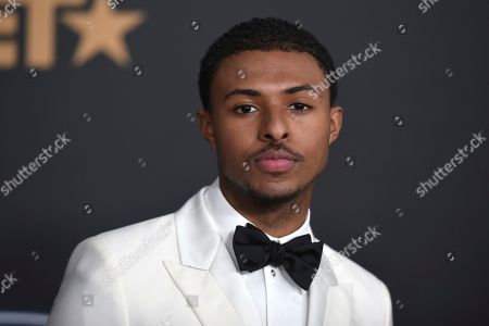 Stock Picture of Diggy Simmons arrives at the 51st NAACP Image Awards at the Pasadena Civic Auditorium, in Pasadena, Calif