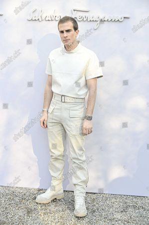 Editorial image of Salvatore Ferragamo show, Arrivals, Fall Winter 2020, Milan Fashion Week, Italy - 22 Feb 2020