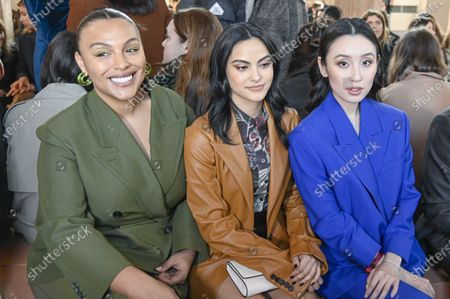 Paloma Elsesser, Camila Mendes and Olivia Sui