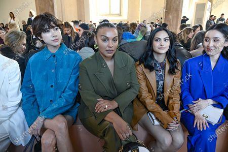 Stock Photo of Hikari Mori, Paloma Elsesser, Camila Mendes and Olivia Sui