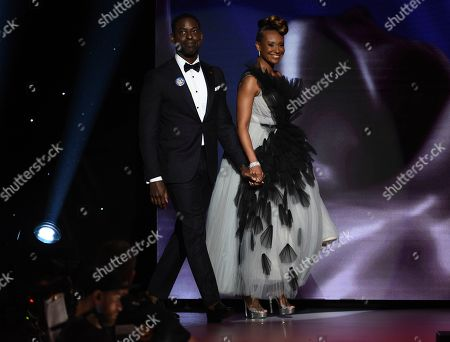 Sterling K. Brown, Ryan Michelle Bathe. Sterling K. Brown, left, and Ryan Michelle Bathe come out on stage at the 51st NAACP Image Awards at the Pasadena Civic Auditorium, in Pasadena, Calif