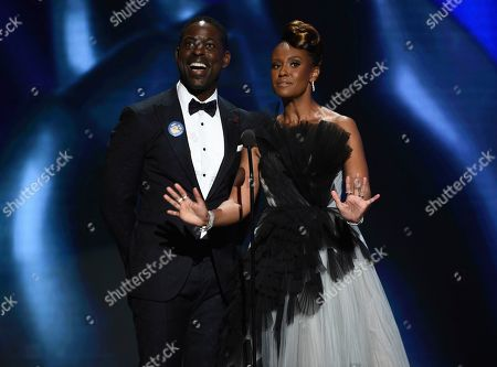 Sterling K. Brown, Ryan Michelle Bathe. Sterling K. Brown, left, and Ryan Michelle Bathe speak on stage at the 51st NAACP Image Awards at the Pasadena Civic Auditorium, in Pasadena, Calif