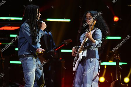 Skip Marley, H.E.R. Skip Marley, left, and H.E.R. perform at the 51st NAACP Image Awards at the Pasadena Civic Auditorium, in Pasadena, Calif