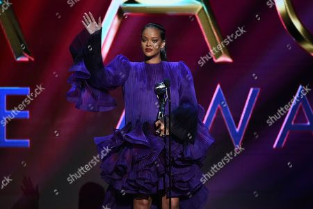 Rihanna accepts the President's Award at the 51st NAACP Image Awards at the Pasadena Civic Auditorium, in Pasadena, Calif