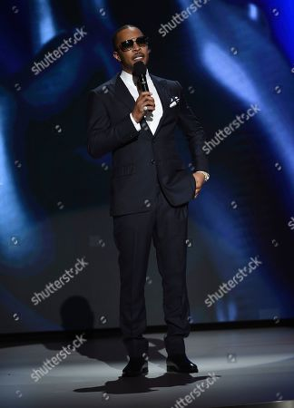 T I. T I. speaks on stage at the 51st NAACP Image Awards at the Pasadena Civic Auditorium, in Pasadena, Calif