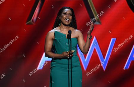 """Angela Bassett wins the award for outstanding actress in a drama series for """"9-1-1"""" at the 51st NAACP Image Awards at the Pasadena Civic Auditorium, in Pasadena, Calif"""