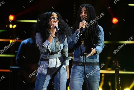 H.E.R., Skip Marley. H.E.R, left, and Skip Marley perform at the 51st NAACP Image Awards at the Pasadena Civic Auditorium, in Pasadena, Calif