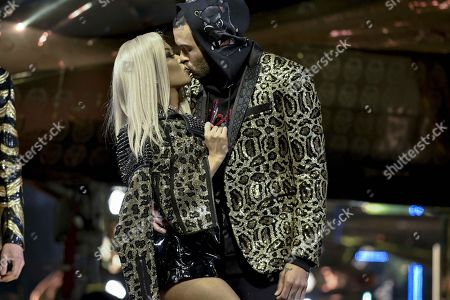 Stock Image of LianeV and Don Benjamin on the catwalk