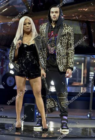 Stock Picture of LianeV and Don Benjamin on the catwalk