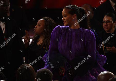 Rihanna in the audience at the 51st NAACP Image Awards at the Pasadena Civic Auditorium, in Pasadena, Calif