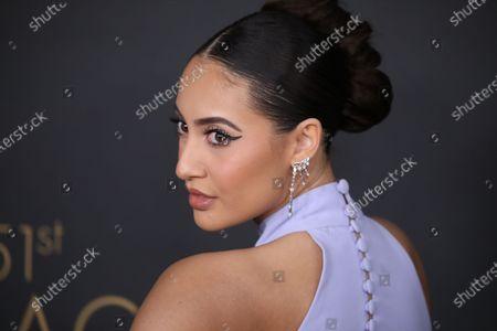 Francia Raisa arrives at the 51st NAACP Image Awards at the Pasadena Civic Auditorium in Pasadena, California, USA, 22 February 2020.
