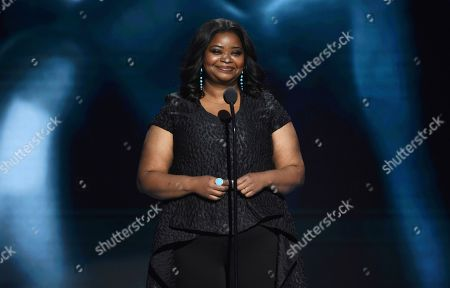 Octavia Spencer speaks on stage at the 51st NAACP Image Awards at the Pasadena Civic Auditorium, in Pasadena, Calif