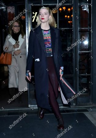 Anya Taylor-Joy going to the Angelika Film Center and Cafe to talk about her new focus feature movie 'Emma'