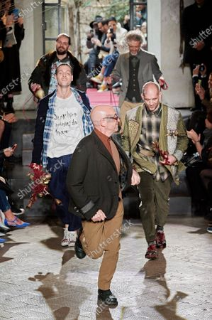 Antonio Marras on the catwalk
