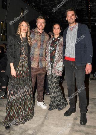 Giacomo and Ottavio Missoni with girlfriends