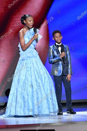 Stock Picture of Shahadi Wright Joseph and Evan Alex