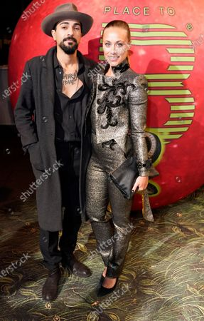 Photographer Puria Safary (L) and actress Sina Tkotsch (R) arrive for the Place To B-Party during the 70th annual Berlin International Film Festival (Berlinale), in Berlin, Germany, 22 February 2020. The Berlinale runs from 20 February to 01 March 2020.