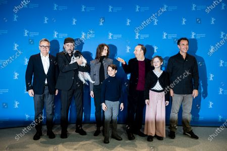 Italian producer Paolo Del Brocco, Italian actor Massimo Ceccherini, French actress and model Marine Vacth, Italian actor Federico Ielapi, Italian actor Roberto Benigni, Italian actress Alida Baldari Calabria and Italian director Matteo Garrone during the 'Pinocchio' photocall during the 70th annual Berlin International Film Festival (Berlinale), in Berlin, Germany, 23 February 2020. The movie is presented in the Berlinale Special section at the Berlinale that runs from 20 February to 01 March 2020.