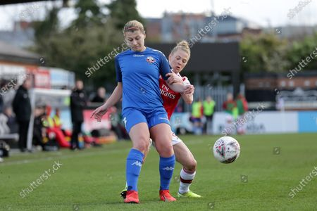 Emma Jones of Lewes and Leonie Maier of Arsenal during Arsenal Women vs Lewes FC Women, Women's FA Cup Football at Meadow Park on 23rd February 2020