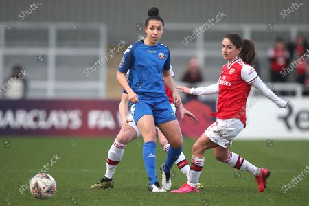 Jess King of Lewes and Danielle van de Donk of Arsenal during Arsenal Women vs Lewes FC Women, Women's FA Cup Football at Meadow Park on 23rd February 2020