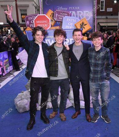 Stock Image of Sam Holland, Harry Holland, Tom Holland and Paddy Holland
