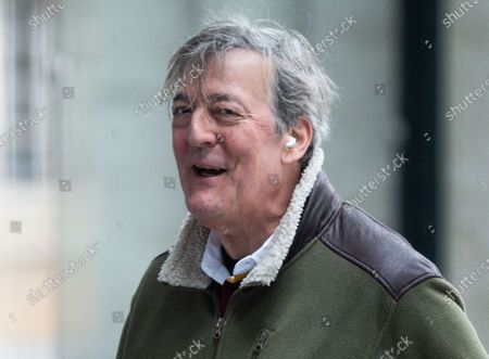Stephen Fry at the BBC Studios.