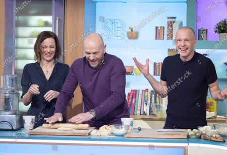 Rachael Stirling, Tim Lovejoy and Simon Rimmer