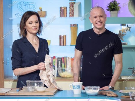 Rachael Stirling and Tim Lovejoy
