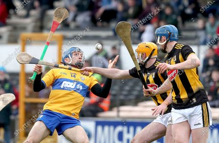 Kilkenny vs Clare. Clare's Shane O'Donnell is tackled by Billy Ryan of Kilkenny