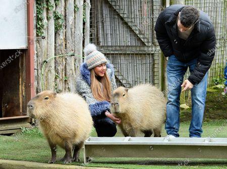 Stock Image of Michelle Heaton, Hugh Hanley and family