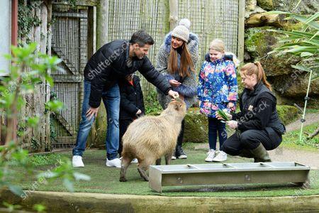 Stock Photo of Michelle Heaton, Hugh Hanley and family