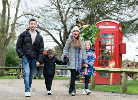 Editorial image of Michelle Heaton and family out and about, Chessington World of Adventures Resort, Surrey, UK - 23 Feb 2020