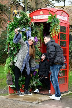 Stock Picture of Michelle Heaton, Hugh Hanley and family