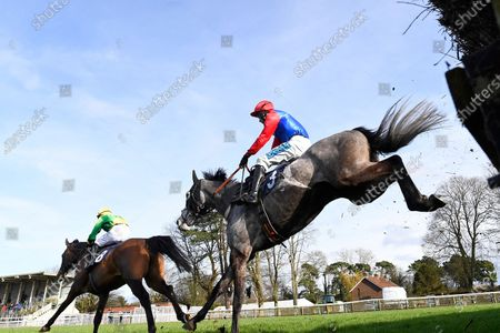 Winner of The Sussex Equine Hospital Handicap Chase  Echo Watt (3) ridden by William Kennedy and trained by Richard Hobson jumps the last behind Big Time Frankie  during Horse Racing at Fontwell Park Racecourse on 23rd February 2020