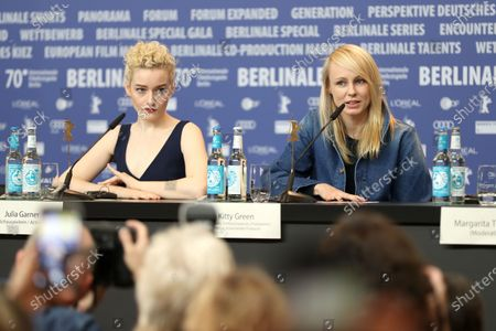 Kitty Green (R) and US actress Julia Garner attends the press conference for 'The Assistant' during the 70th annual Berlin International Film Festival (Berlinale), in Berlin, Germany, 23 February 2020. The movie is presented in the Panorama section at the Berlinale that runs from 20 February to 01 March 2020.