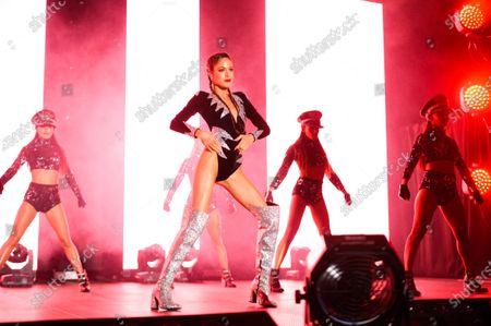 Martina Stoessel performing during her 'Quiero Volver' tour