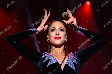 Stock Picture of Martina Stoessel performing during her 'Quiero Volver' tour