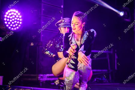 Stock Photo of Martina Stoessel performing during her 'Quiero Volver' tour