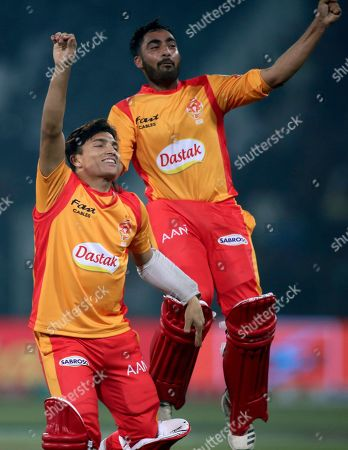 Muhammad Musa Ahmed Safi Abdullah. Islamabad United batsmen Muhammad Musa, left, and Ahmed Safi Abdullah celebrate the victory over Lahore Qalandars during their Pakistan Super League T20 cricket match at Gaddafi stadium in Lahore, Pakistan