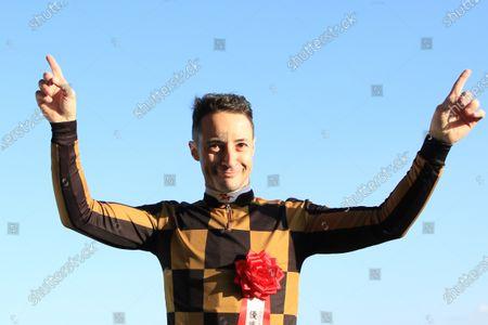 , Tokyo, Portrait of jockey Christophe Lemaire at Fuchu racecourse, JPN.