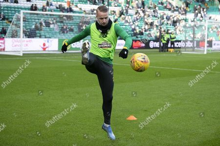 Leigh Griffiths of Celtic warms up