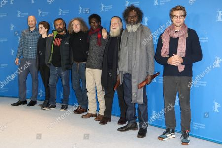 Stock Photo of Maggie Miles, Aaron Pedersen, Stephen Maxwell Drew Johnson, Jacob Junior Nayinggul, Jack Thompson, Witiyana Marika and Simon Baker