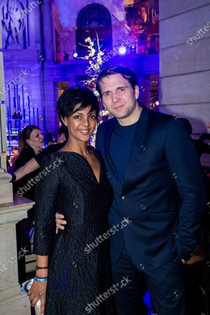 Stock Image of Dennenesch Zoude and French-German actor Pierre Kiwitt attend the ARD BLUE HOUR reception' during the 70th annual Berlin International Film Festival (Berlinale), in Berlin, Germany, 21 February 2020. The Berlinale runs from 20 February to 01 March 2020.