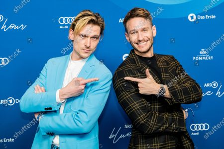 Stock Image of Daniel Straesser (L) and Vladimir Burlakov attend the ARD BLUE HOUR reception' during the 70th annual Berlin International Film Festival (Berlinale), in Berlin, Germany, 21 February 2020. The Berlinale runs from 20 February to 01 March 2020.