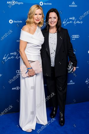 Veronica Ferres (L) and Desire Nosbusch attend the ARD BLUE HOUR reception' during the 70th annual Berlin International Film Festival (Berlinale), in Berlin, Germany, 21 February 2020. The Berlinale runs from 20 February to 01 March 2020.