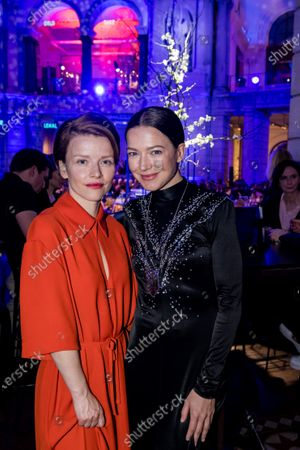 Hannah Herzsprung (R) and German actress Karoline Schuch attend the ARD BLUE HOUR reception' during the 70th annual Berlin International Film Festival (Berlinale), in Berlin, Germany, 21 February 2020. The Berlinale runs from 20 February to 01 March 2020.