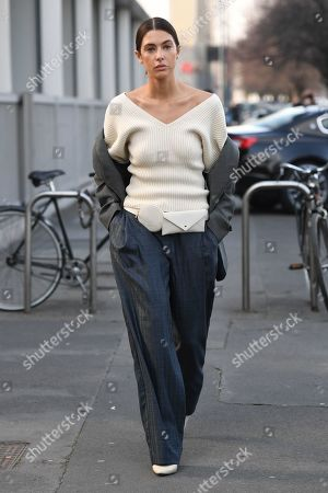 Editorial image of Street Style, Fall Winter 2020, Milan Fashion Week, Italy - 23 Feb 2020