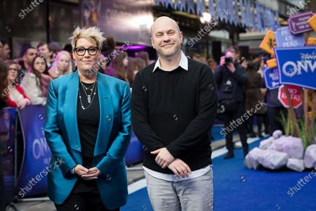 Dan Scanlon (R) and US Producer Kori Rae (L) attend the UK premiere of 'Onward' at Curzon Mayfair in London, Britain, 23 February 2020. The film will be release in British Cinemas on 06 March.